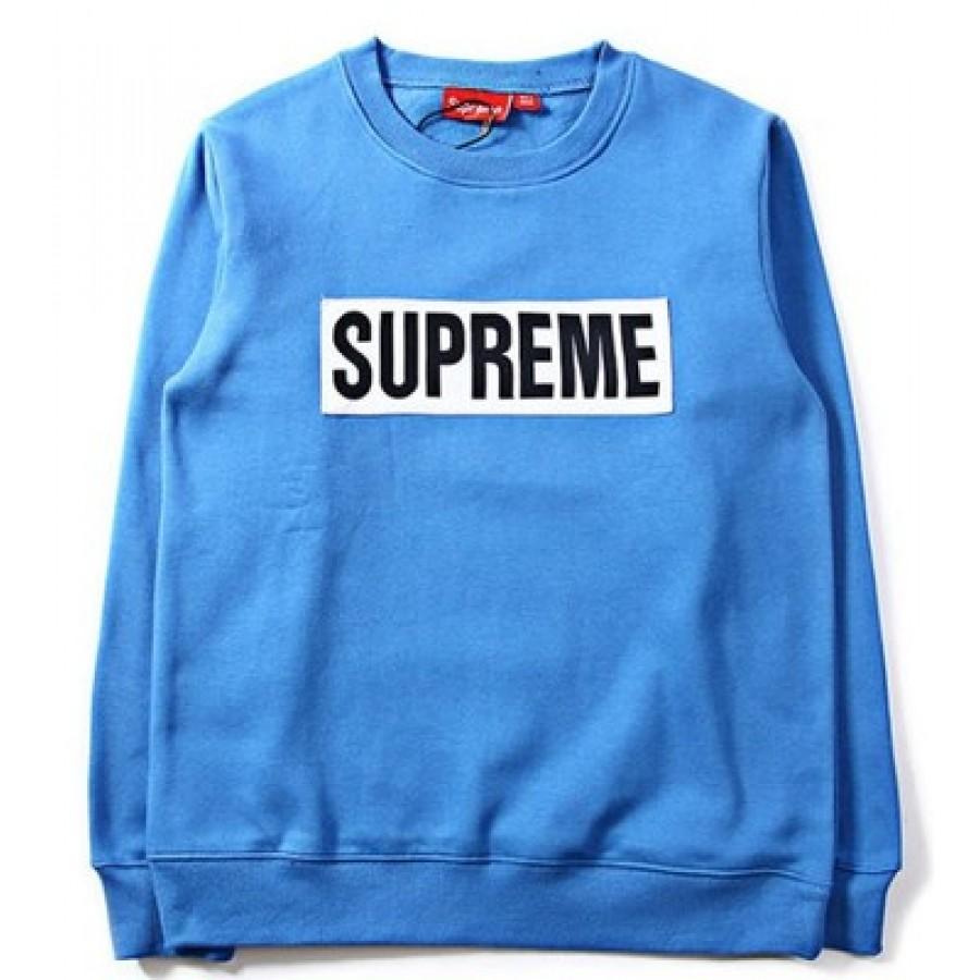 Supreme Box Logo Marathon Sweater (Blue)