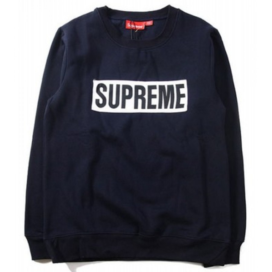 Supreme Box Logo Marathon Sweater (Navy/Blue)