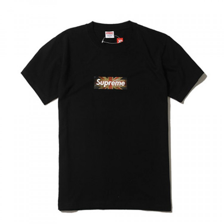 Supreme British Flag Plain T-Shirt (Black)