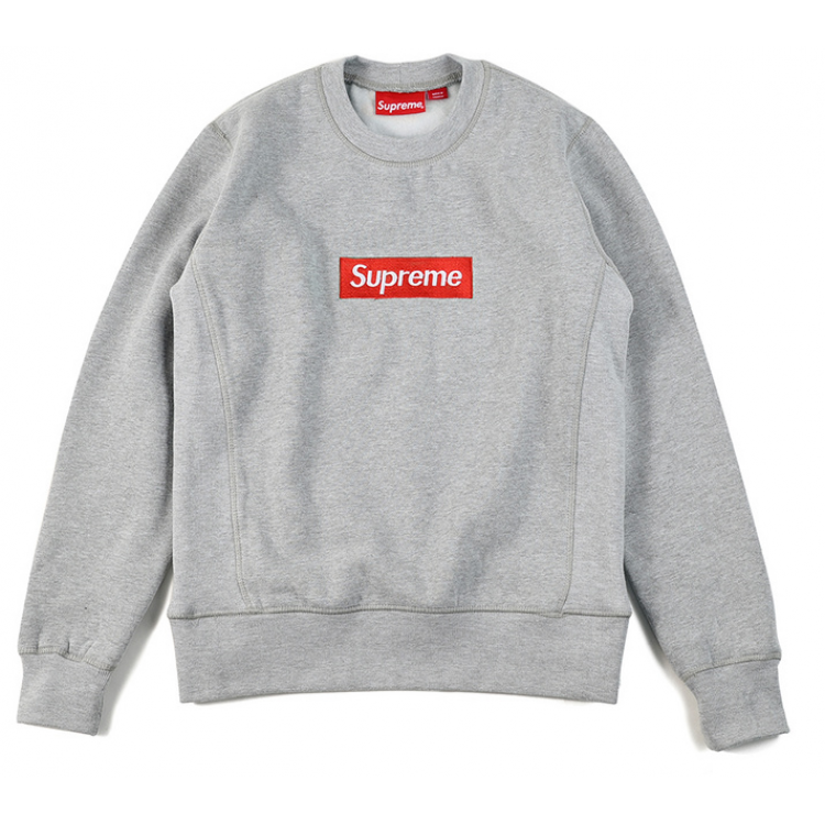 Supreme Embroided Logo Sweater (Gray)