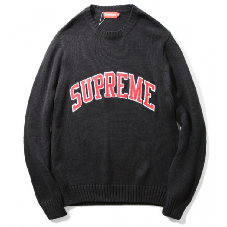Supreme Label Knit Sweater (Black)