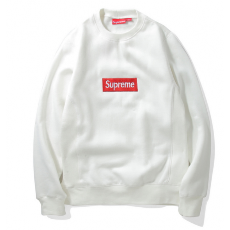 Supreme Label Sweater (White)