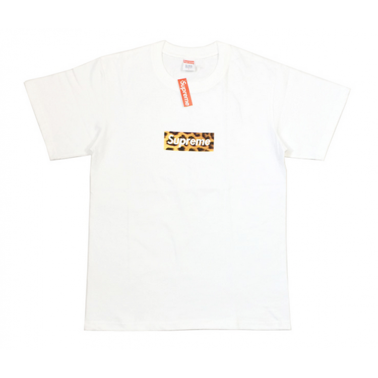 Supreme Leopard Box Logo T-Shirt (White)