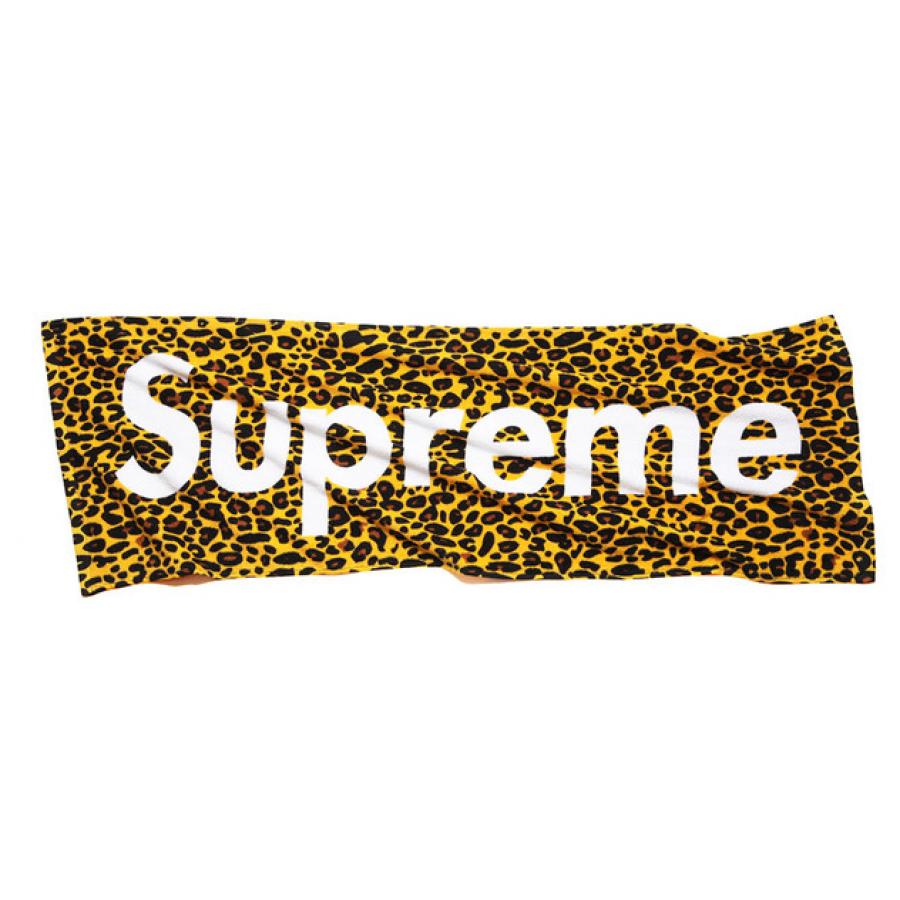 "Supreme ""Leopard Print"" Beach Towel (Yellow)"