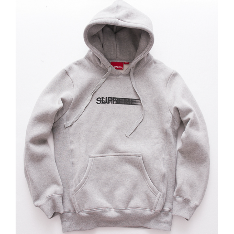 Supreme Motion Logo Hooded Sweater (Gray)