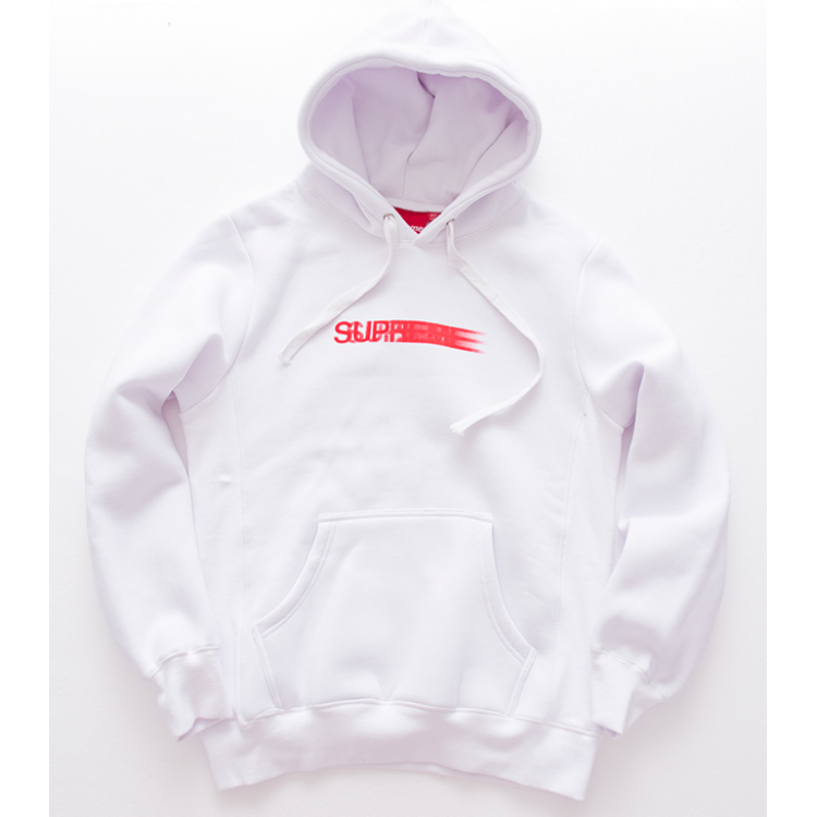 Supreme Motion Logo Hooded Sweater (White)