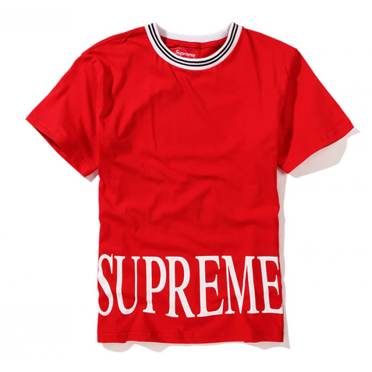Supreme NYC Roman Logo T-Shirt (Red)
