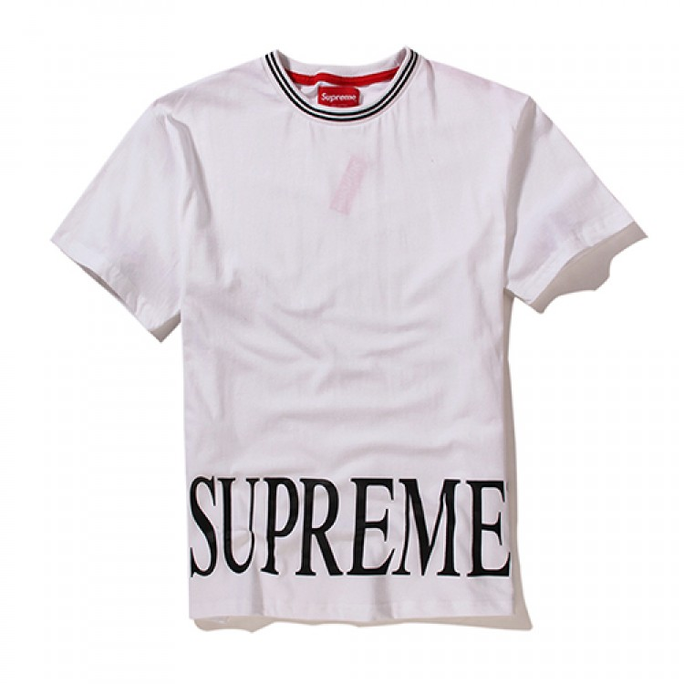 Supreme Plain Big Text T-Shirt (White)