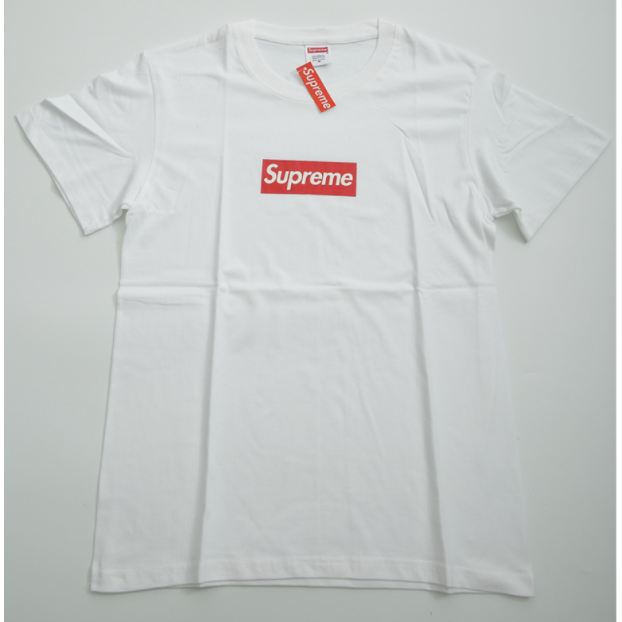 Supreme Plain Logo T-Shirt (White)