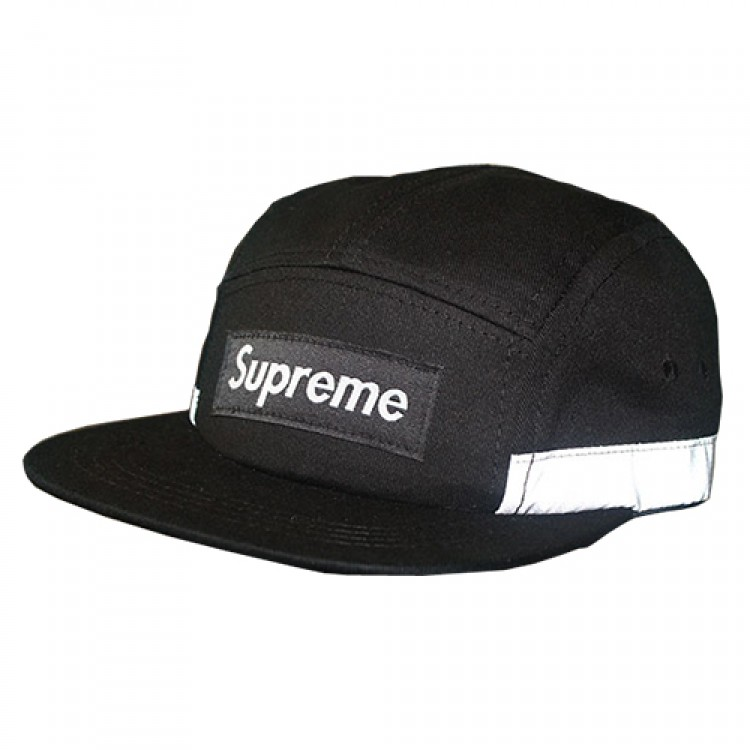 Supreme Plain Stripe Hat (Black/White)
