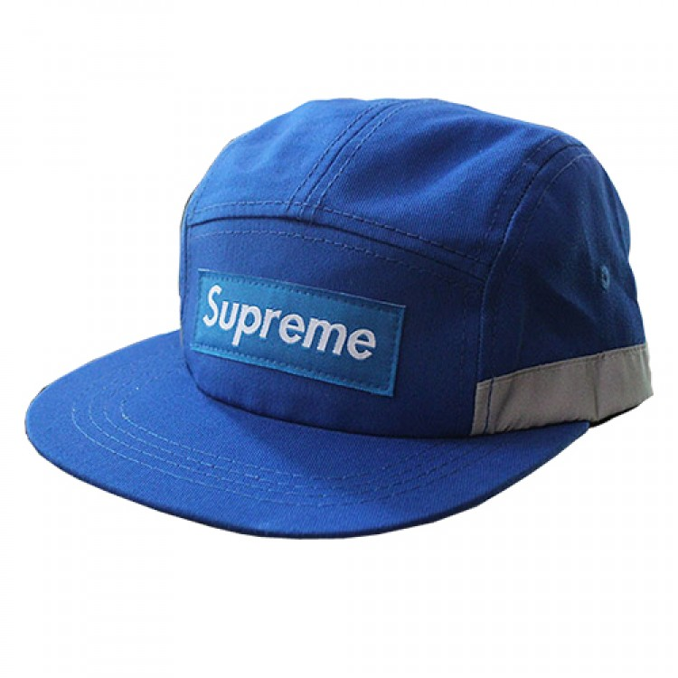 Supreme Plain Stripe Hat (Blue/Gray)