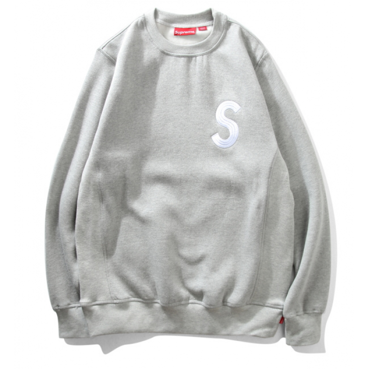 Supreme S Crewneck Sweater (Gray)
