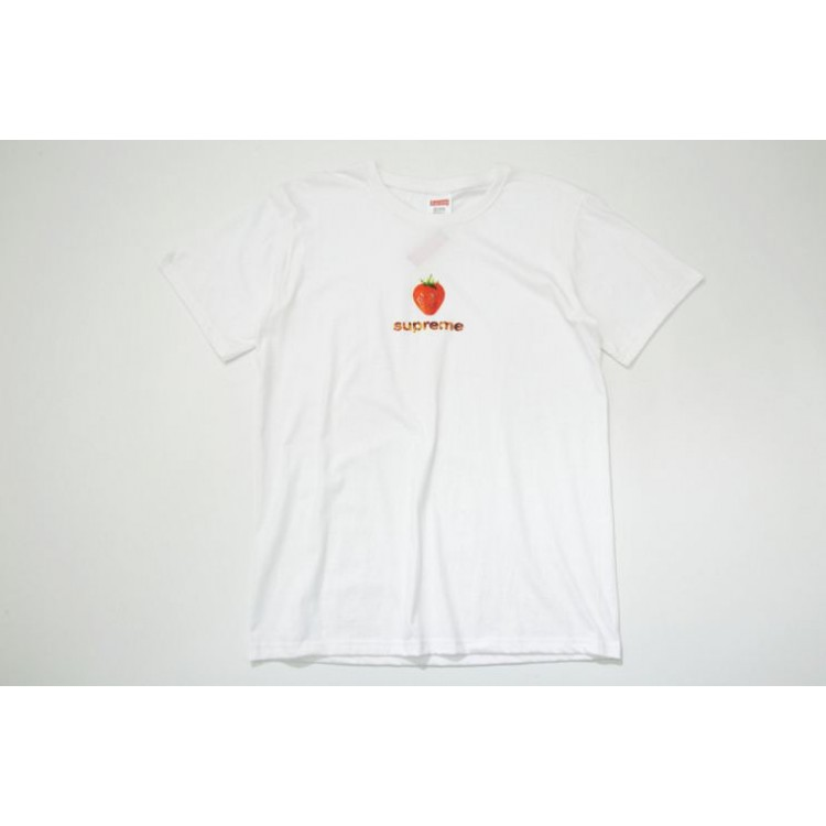 Supreme Strawberry Flame T-Shirt (White)