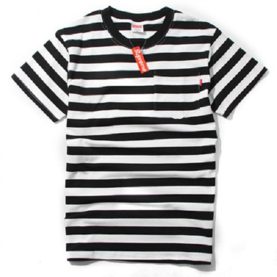 Supreme Stripe T-Shirt (Black/White)