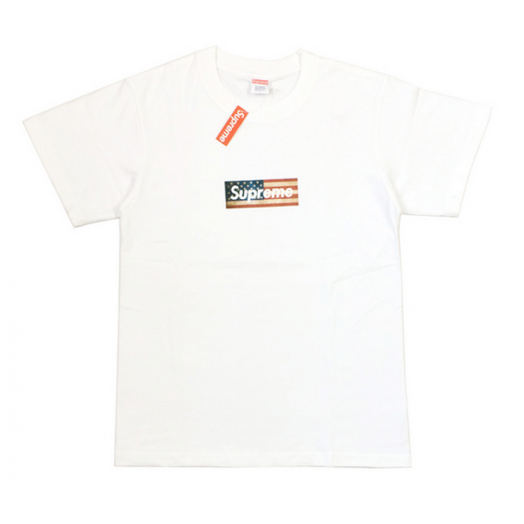Supreme USA Flag Box Logo T-Shirt (White)