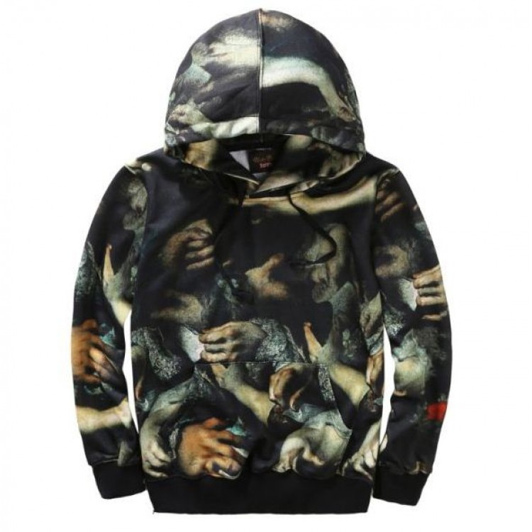 Supreme Undercover Hand Prints Hooded Sweater (Black)
