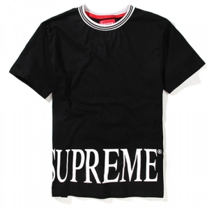 Supreme Plain Big Text T-Shirt (Black)