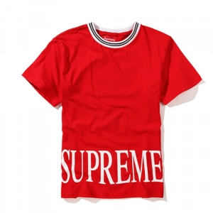 Supreme Plain Big Text T-Shirt (Red)