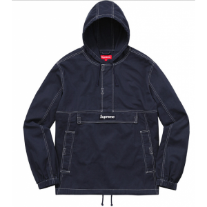 Supreme Plain Hooded Jacket (Navy)