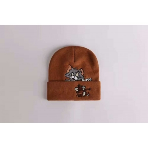 Supreme Tom Jerry Ribbed Beanie (Brown)