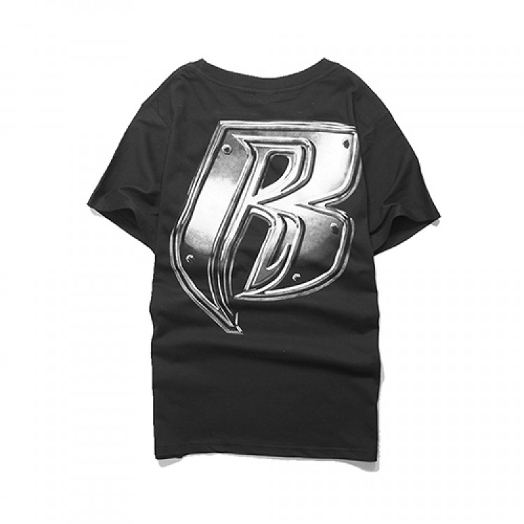 Supreme Big Letter R Plain T-shirt (Black)