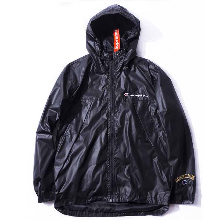 Supreme Champion Plain Windbreaker Jacket (Black)