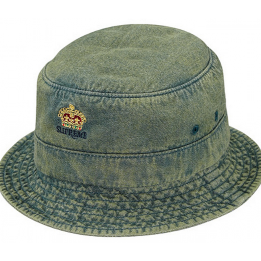 Supreme Denim Crusher Trooper Bucket Hat (Dark/Green)