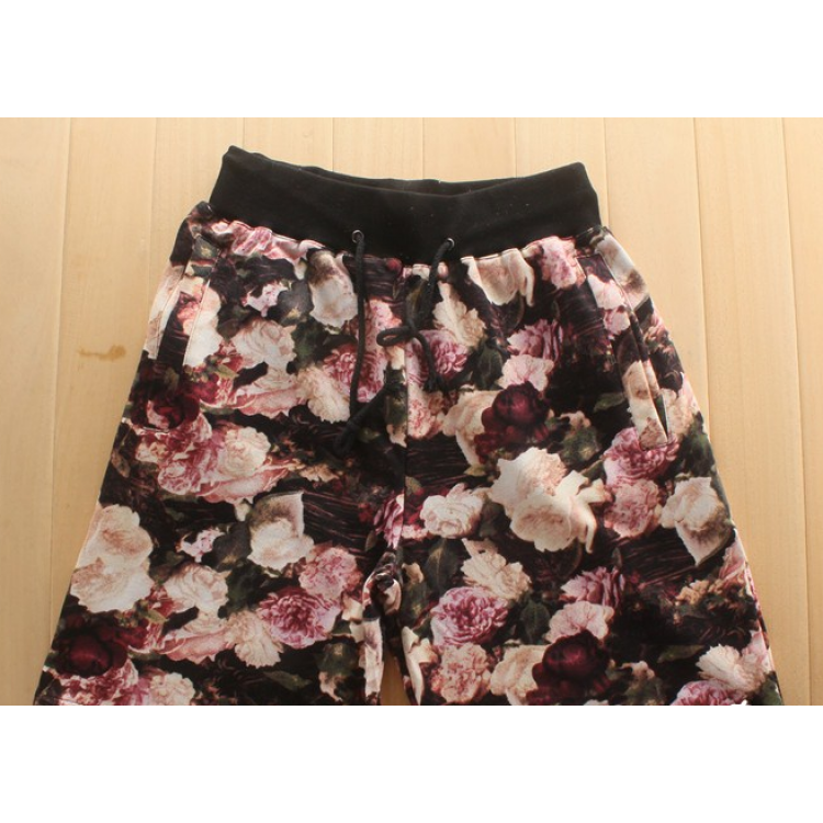 Supreme Floral Shorts (Black/Pink)