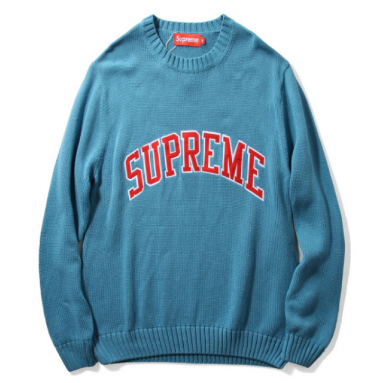 Supreme Label Knit Sweater (Blue)