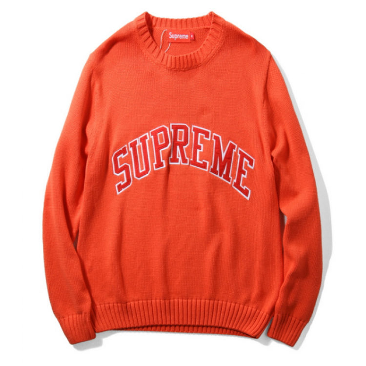 Supreme Label Knit Sweater (Orange)