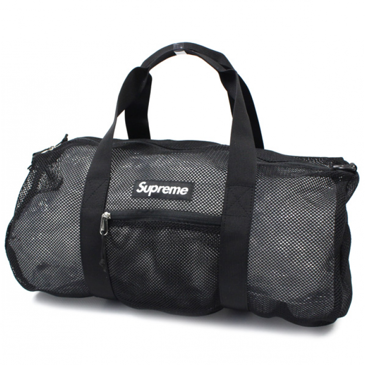 Supreme Mesh Duffle Bag (Black)
