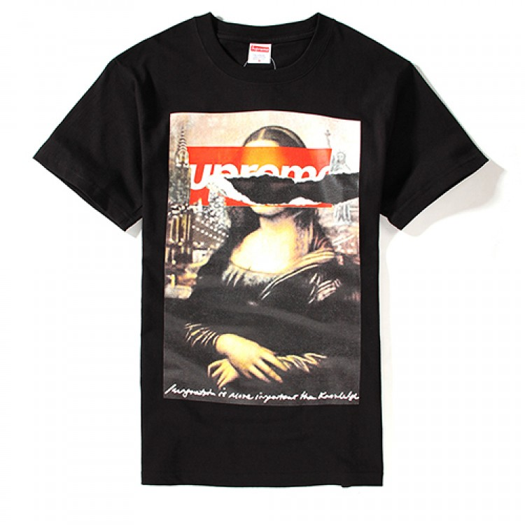 Supreme Monaliza Streets of New York T-Shirt (Black)