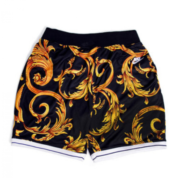 Supreme NK Royal Flora Shorts (Black/Gold)
