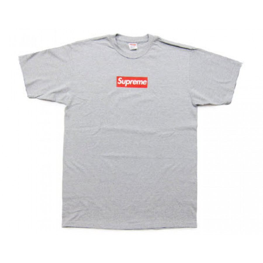 Supreme NYC Box Logo T-Shirt (Gray)