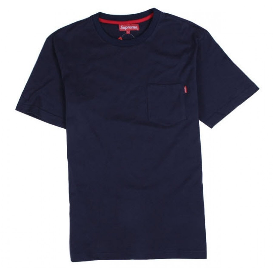 "Supreme ""NYC Pocket"" T-Shirt (Navy)"