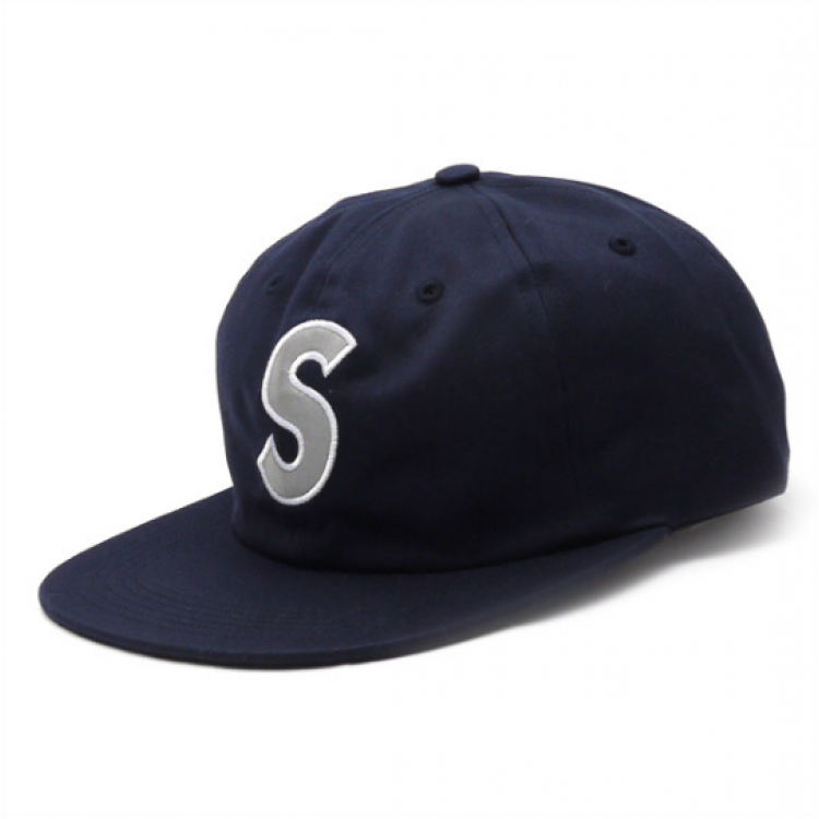 Supreme Reflective S Logo 6Panel Hat (Navy)