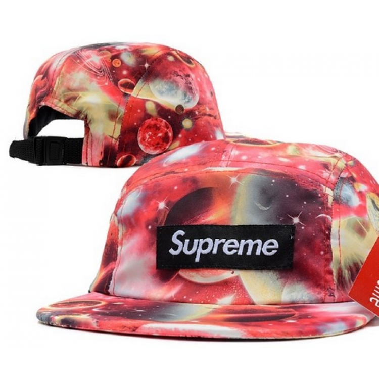 Supreme Space Box Logo Strapback Hat (Red)