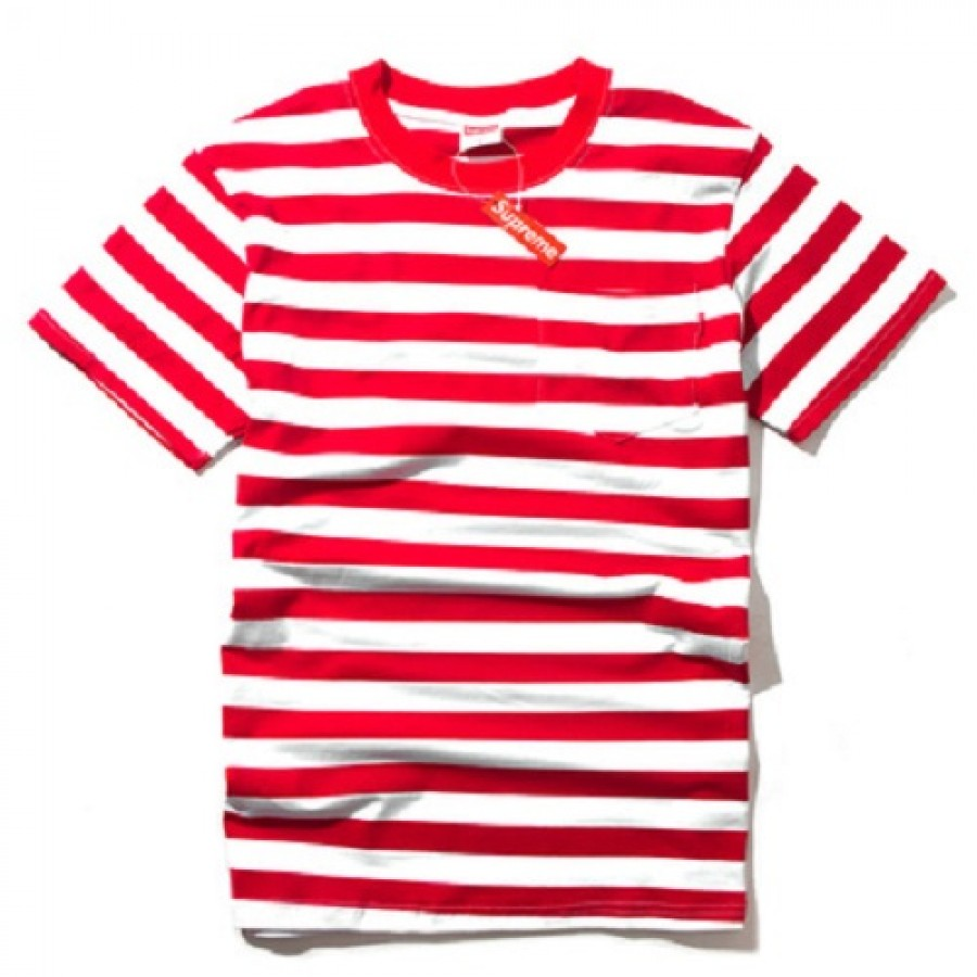Supreme Stripe T-Shirt (Red/White)