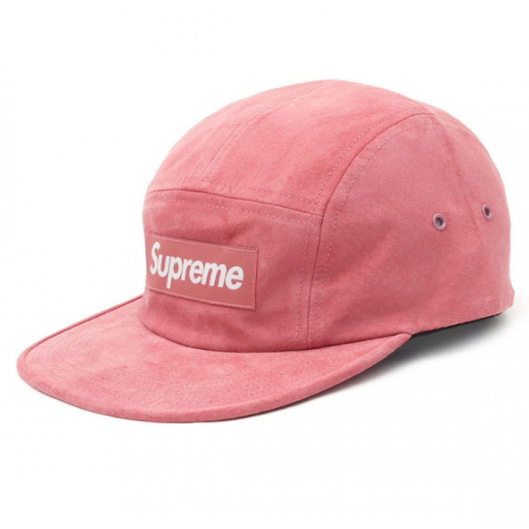 Supreme Suede Box Logo Camp Hat (Pink)