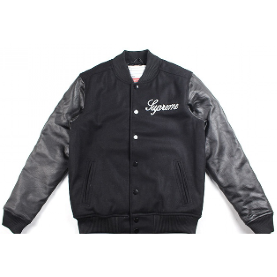 Supreme Team Baseball Jacket (Black)