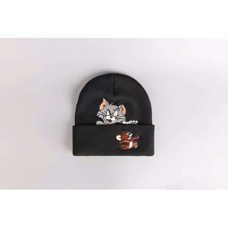 Supreme Tom Jerry Ribbed Beanie (Black)