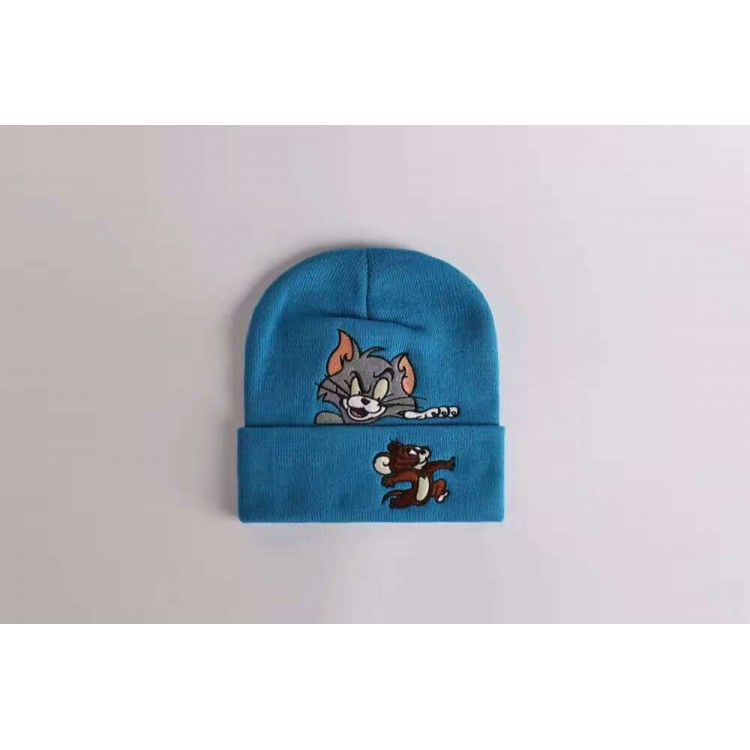 Supreme Tom Jerry Ribbed Beanie (Blue)