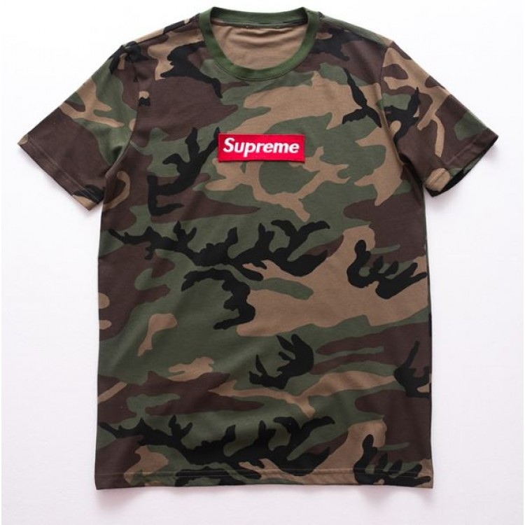 Supreme Tooling Military Camo Crewneck T-Shirt (Brown/Green)